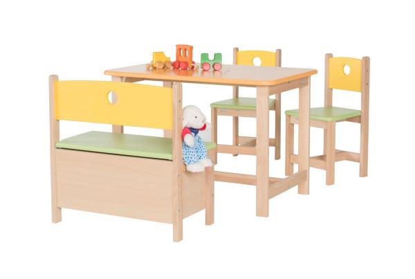 Set tavolo e sedie per bambini Pepino